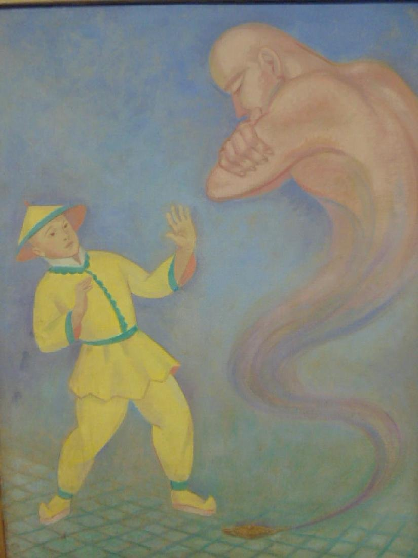 "Painting, oil on canvas, ""Aladdin"", by Joseph Zenk - 2"