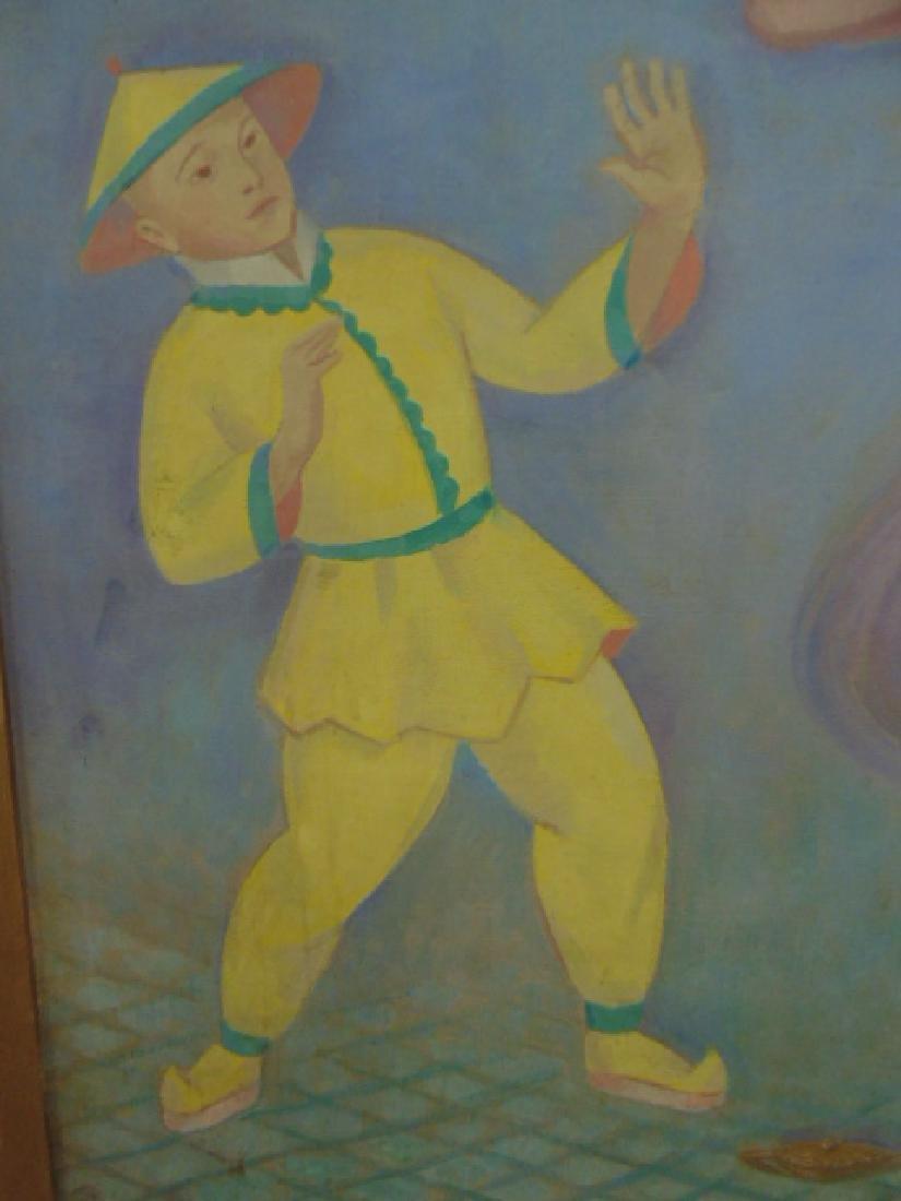 "Painting, oil on canvas, ""Aladdin"", by Joseph Zenk - 3"