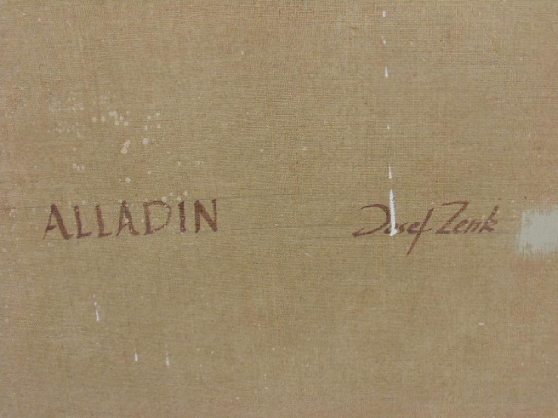 "Painting, oil on canvas, ""Aladdin"", by Joseph Zenk - 5"