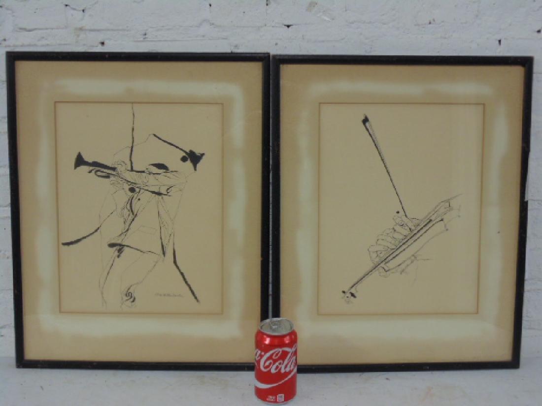 Pair prints, David Stone Martin, Jazz musicians