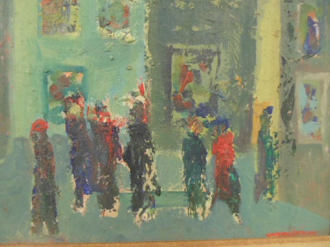 Painting, figures, street, signed Rosenstein (?) - 2