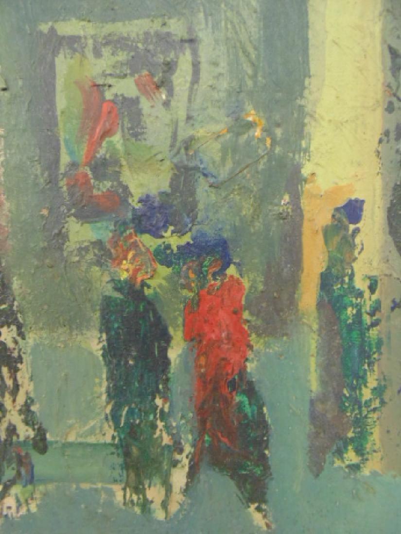Painting, figures, street, signed Rosenstein (?) - 3