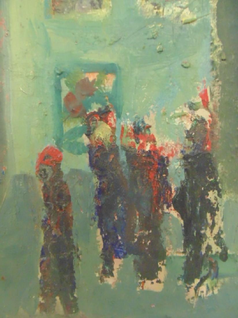 Painting, figures, street, signed Rosenstein (?) - 4