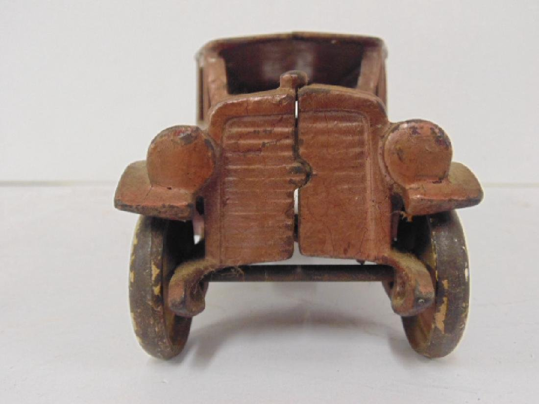 """Cast iron bus, toy, no marks, bus is 10.5"""" - 4"""