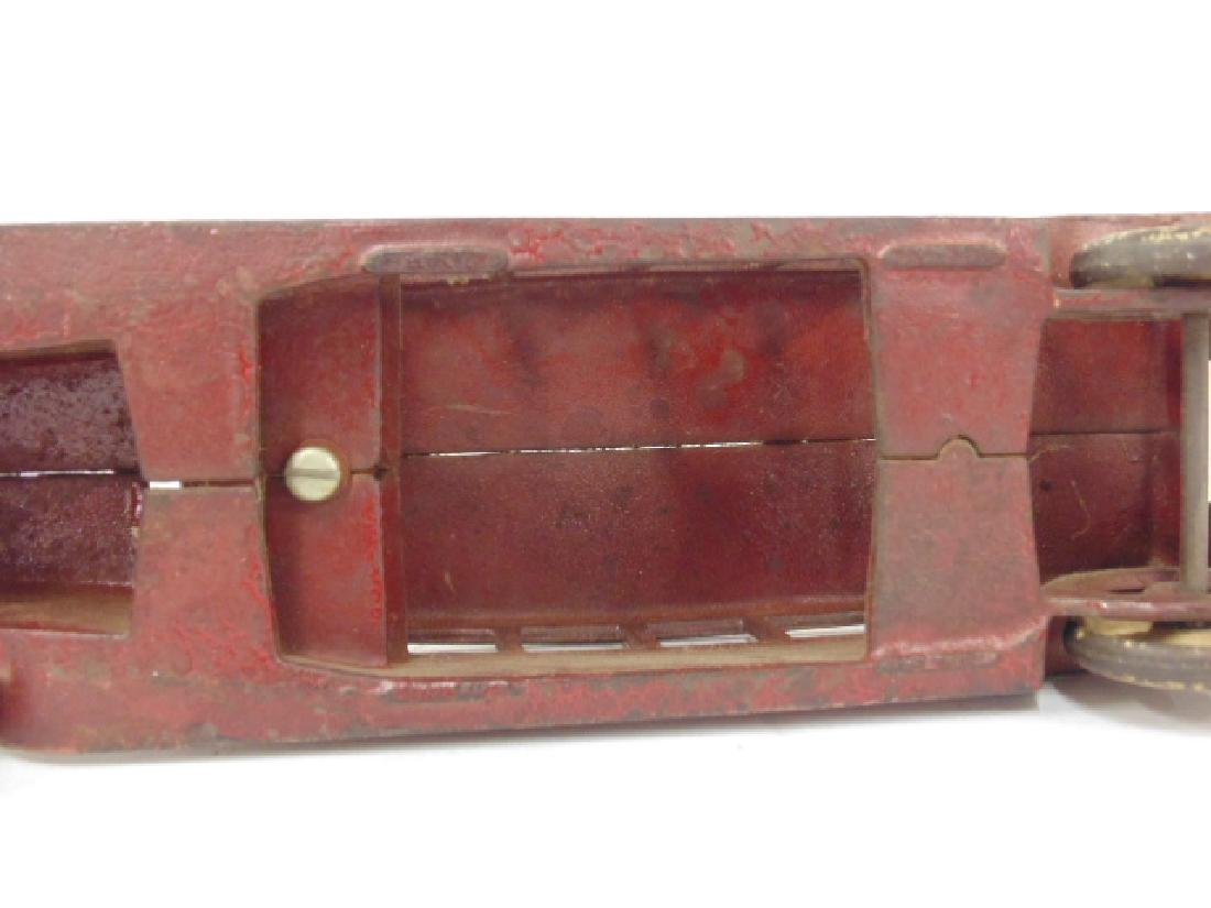 """Cast iron bus, toy, no marks, bus is 10.5"""" - 5"""
