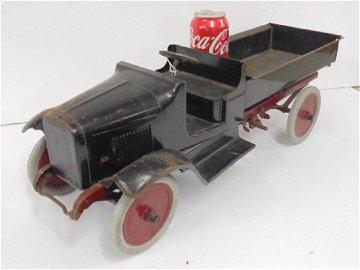 Buddy L toy metal dump truck, original paint