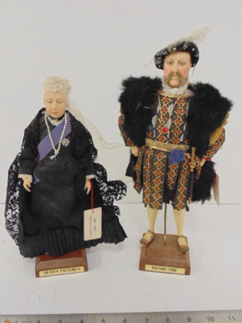 """2 Ann Parker dolls, """"Queen Victoria"""" & """"Henry VIII"""""""