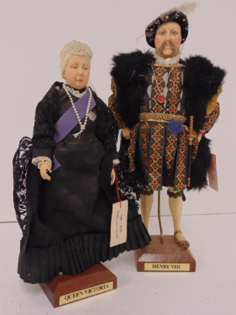 """2 Ann Parker dolls, """"Queen Victoria"""" & """"Henry VIII"""" - 2"""