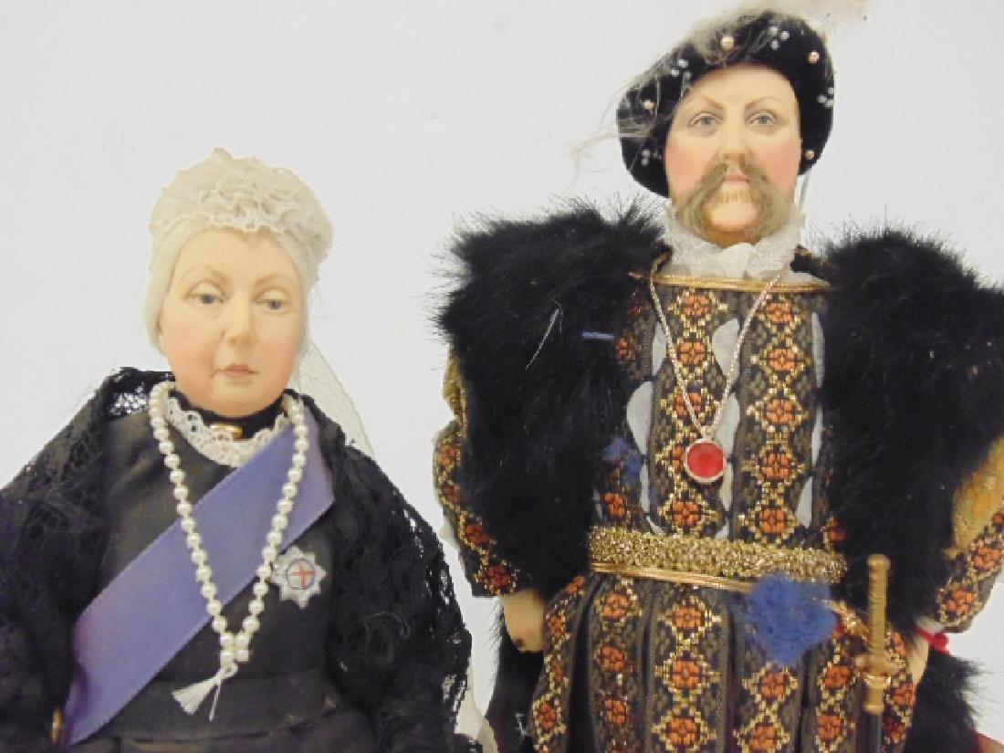 """2 Ann Parker dolls, """"Queen Victoria"""" & """"Henry VIII"""" - 3"""