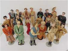 Collection 20 movie cloth dolls by Mary Green & Evelyn