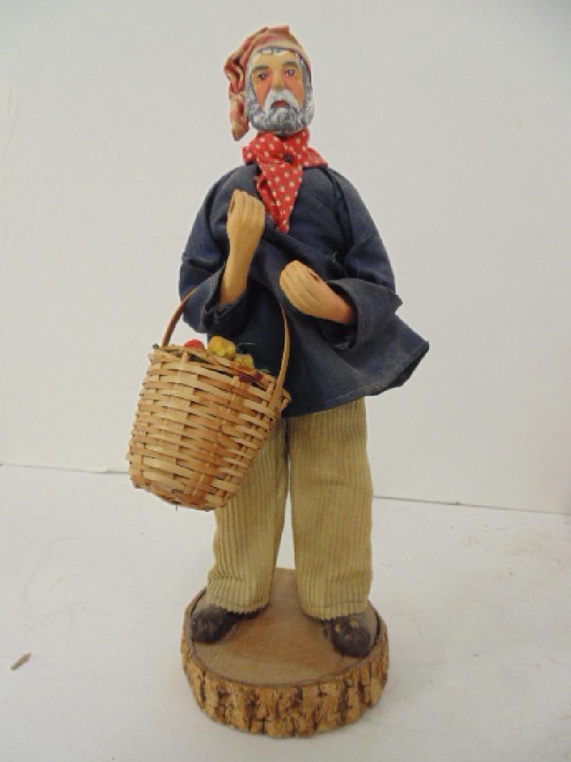5 ethnic terra cotta M. Chave Aubagne handpainted dolls - 3