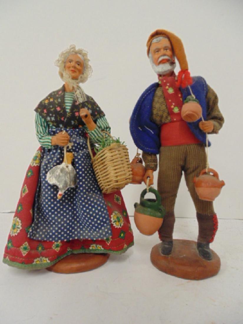 5 ethnic terra cotta M. Chave Aubagne handpainted dolls - 4