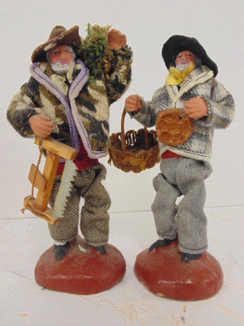 5 ethnic terra cotta M. Chave Aubagne handpainted dolls - 6