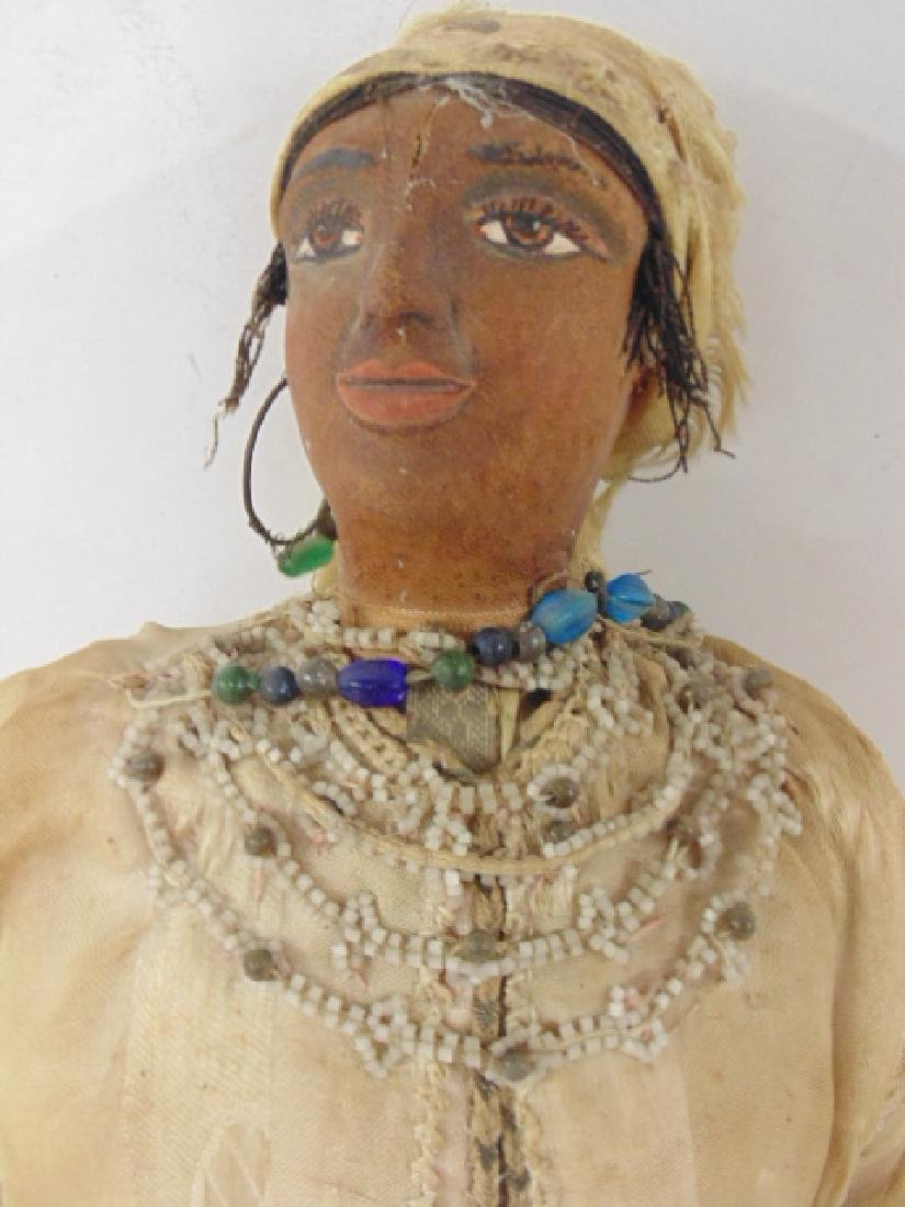 Large gypsy doll, vintage clothing, one foot missing - 2