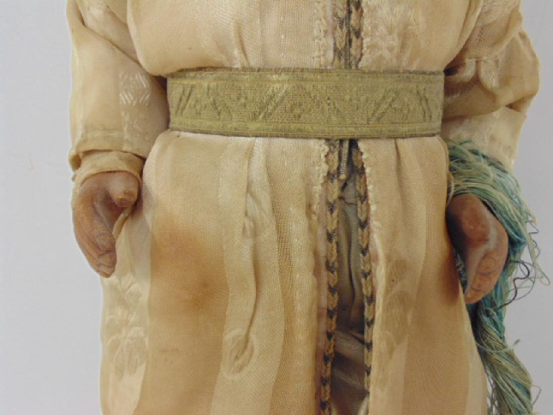 Large gypsy doll, vintage clothing, one foot missing - 3