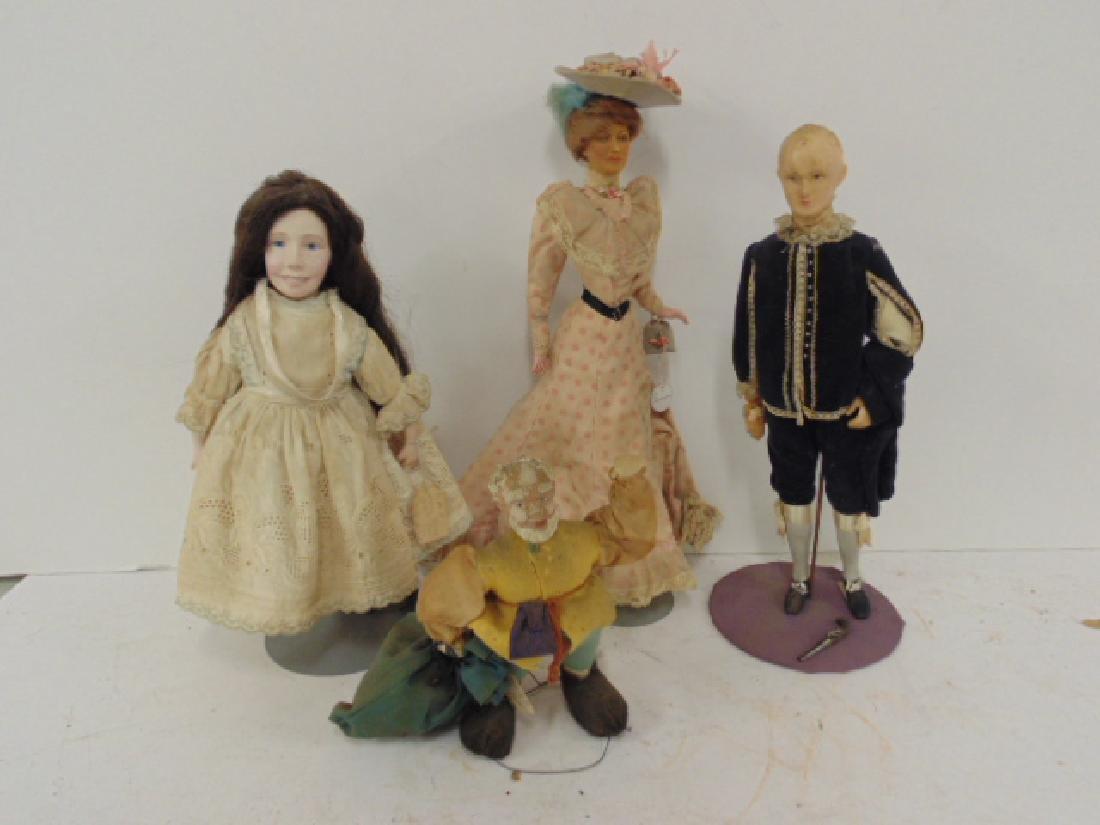4 dolls by Helen Biggart, Lewis Sorensen, Helen McCook