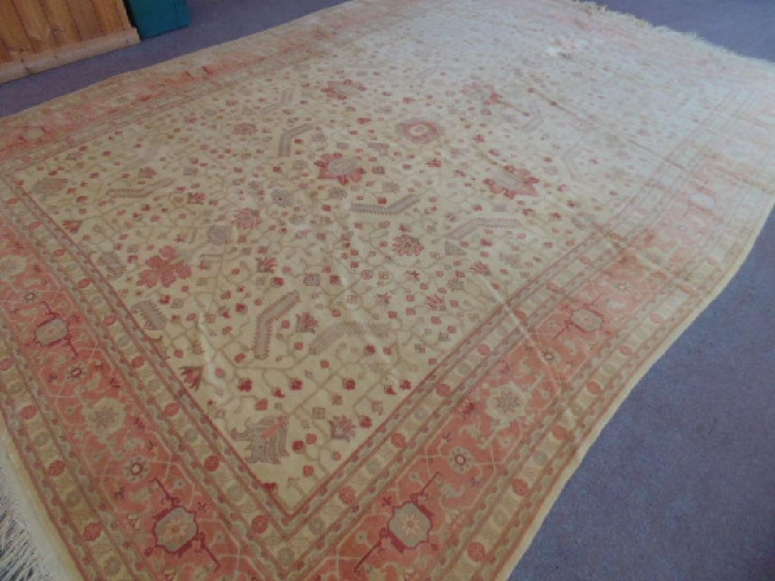 Room size Persian carpet, rug, pink, 10' by 14' - 2