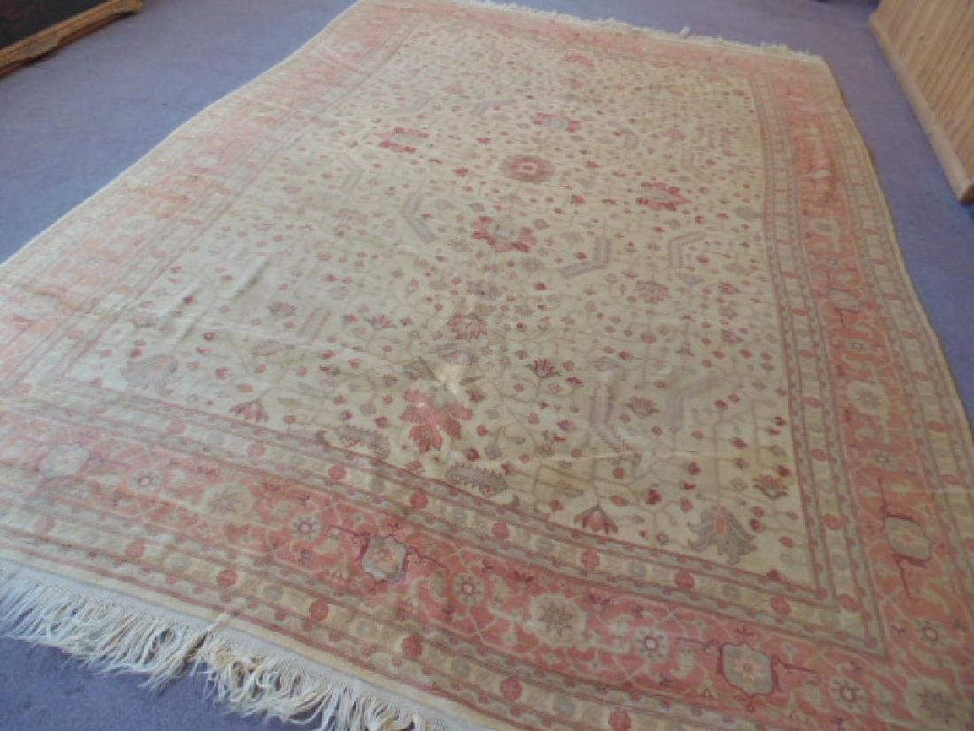 Room size Persian carpet, rug, pink, 10' by 14' - 3