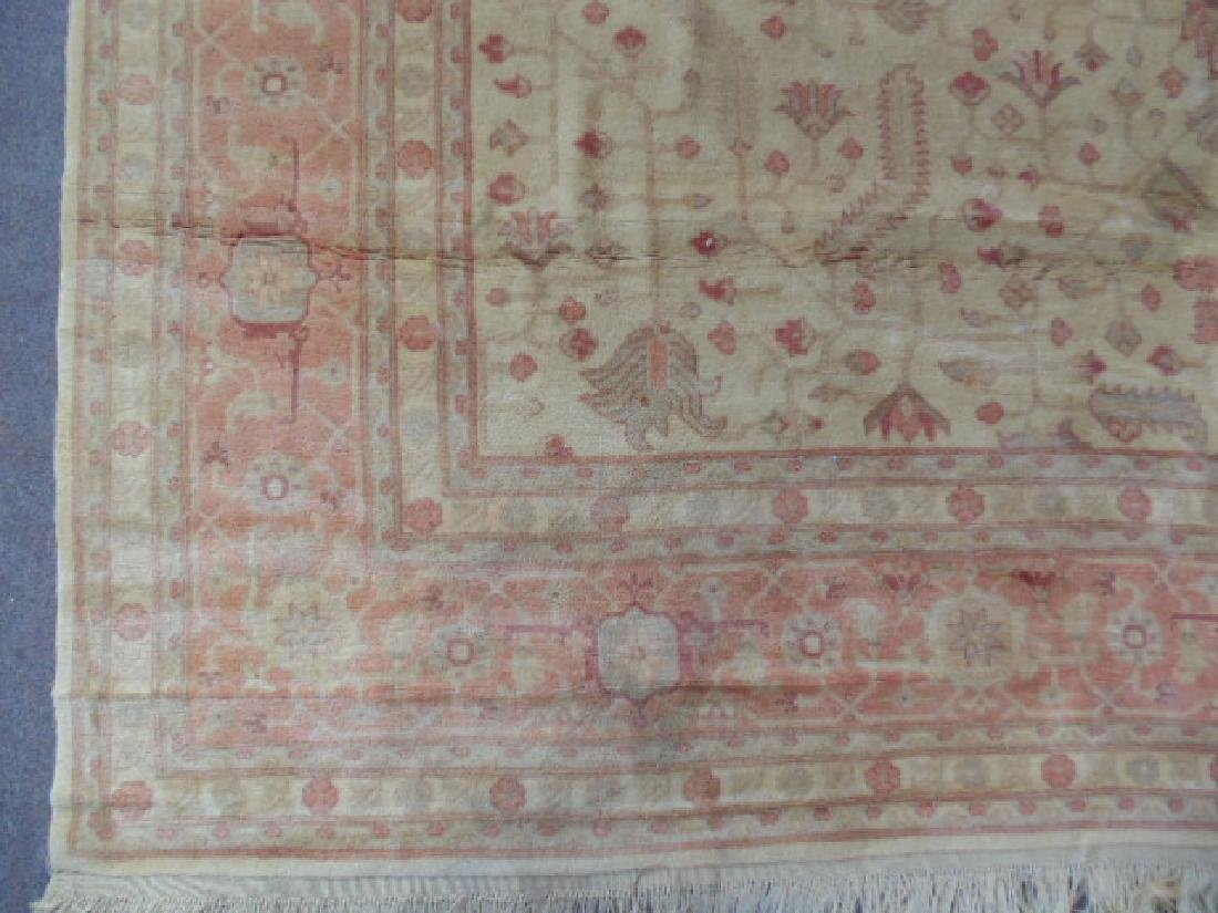 Room size Persian carpet, rug, pink, 10' by 14' - 4
