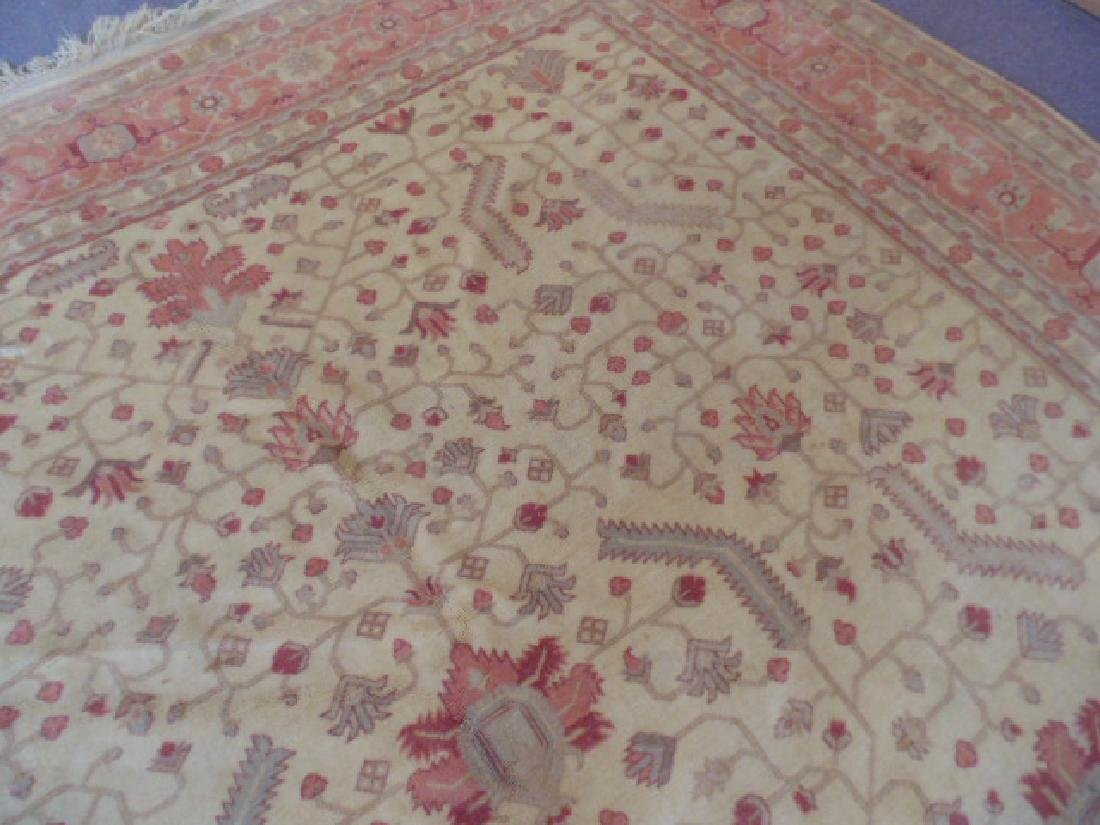Room size Persian carpet, rug, pink, 10' by 14' - 5