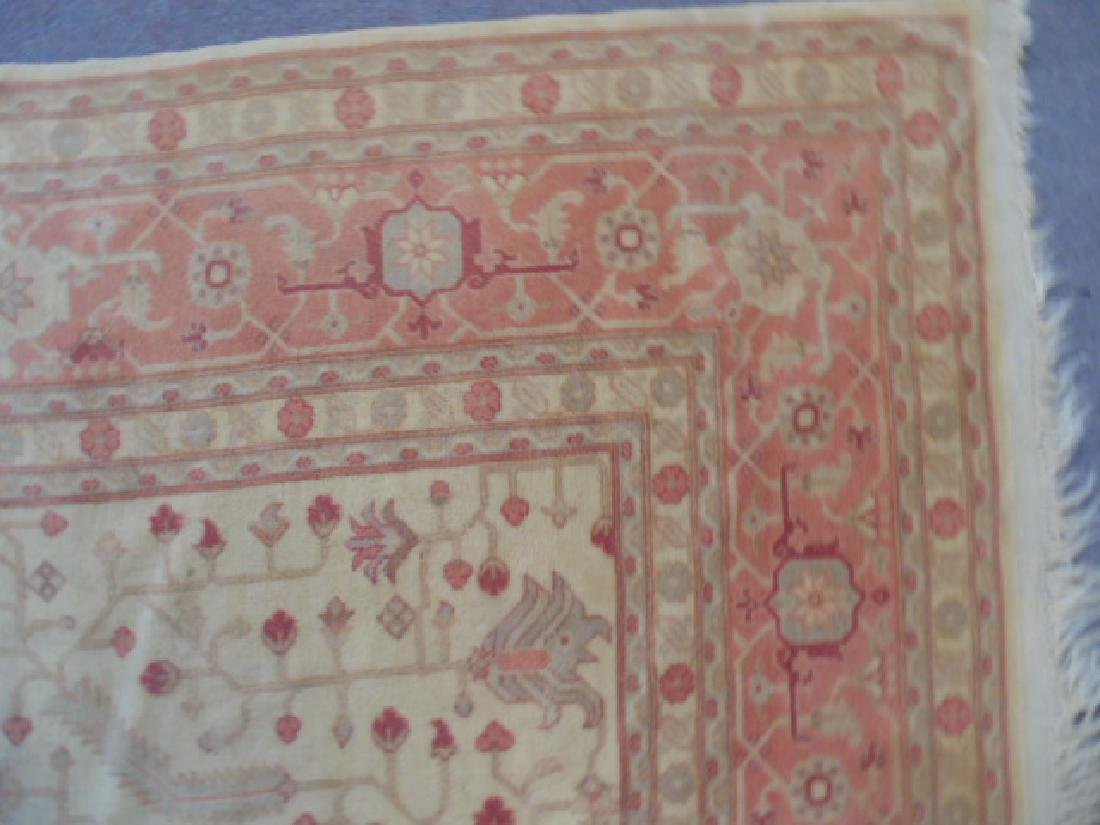 Room size Persian carpet, rug, pink, 10' by 14' - 7