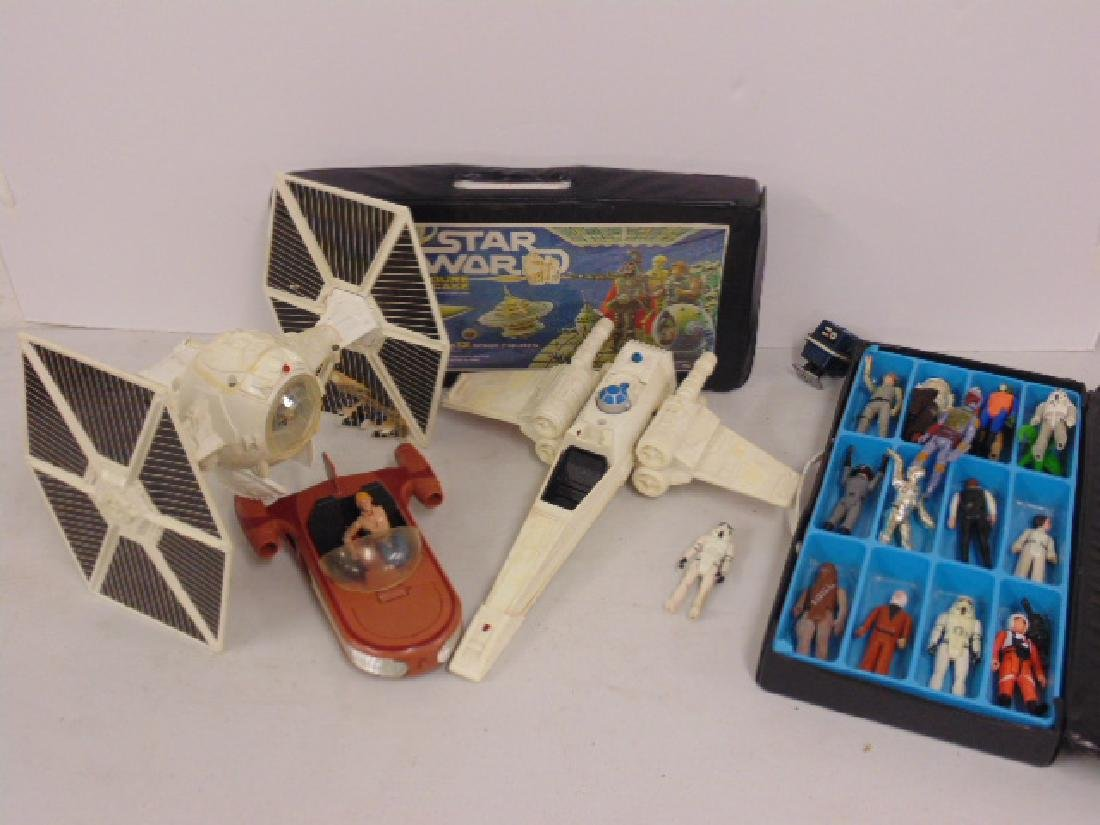 Vintage 870's Star Wars lot, Tie fighter, X Wing, hover
