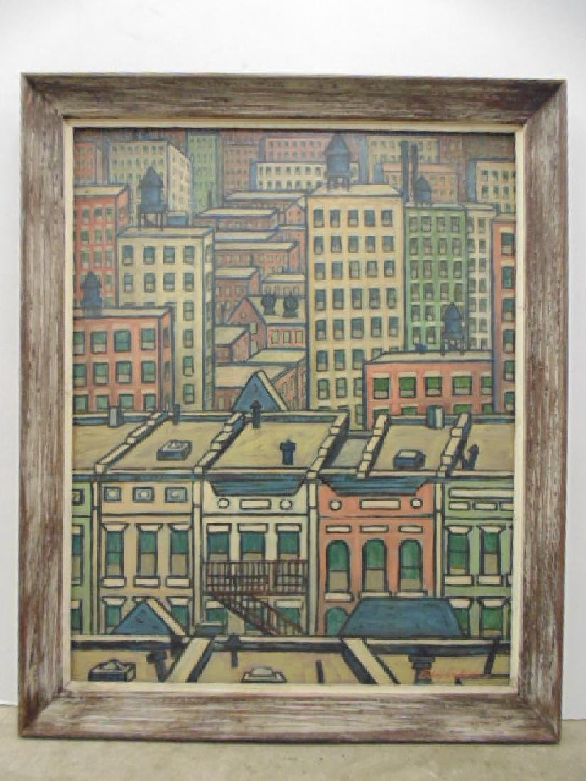 """Painting, """"West 80th, 1962"""" New York City,  Larry"""