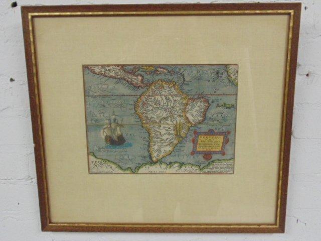 Antique map, south America, Peruvia id est, Novi Orbis - 2