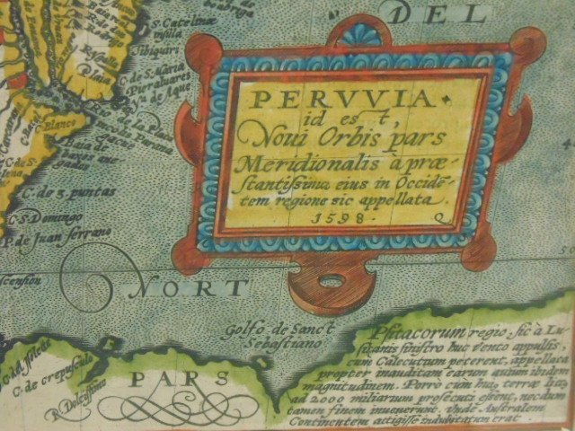 Antique map, south America, Peruvia id est, Novi Orbis - 3