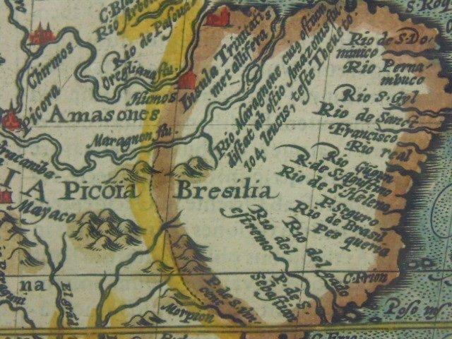 Antique map, south America, Peruvia id est, Novi Orbis - 7