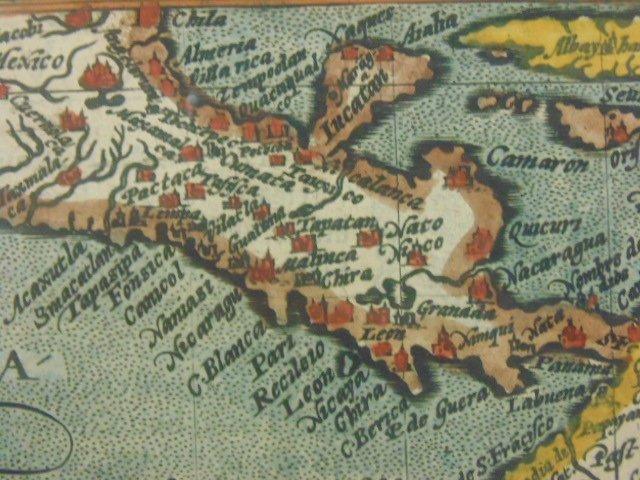 Antique map, south America, Peruvia id est, Novi Orbis - 8