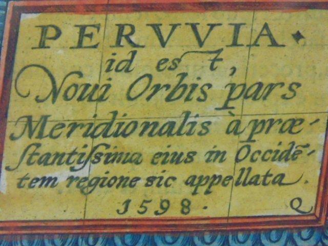 Antique map, south America, Peruvia id est, Novi Orbis - 9