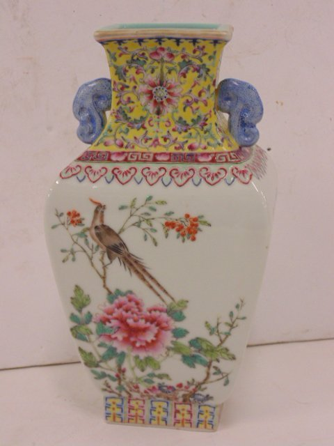 Chinese, Asian porcelain vase, floral decorated