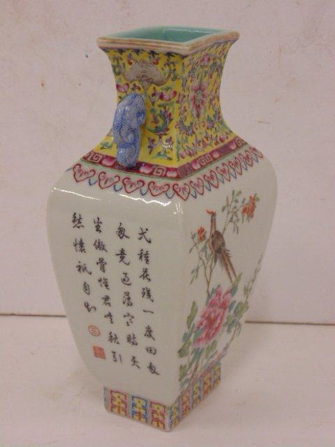 Chinese, Asian porcelain vase, floral decorated - 2