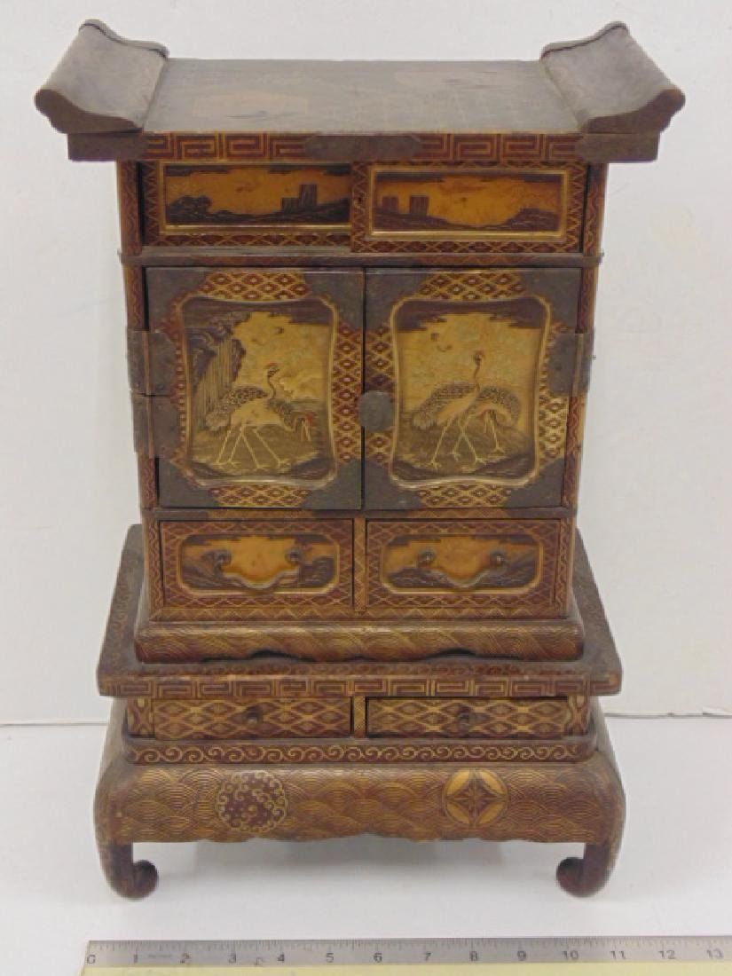 Small Japanese, Asian lacquered table shrine