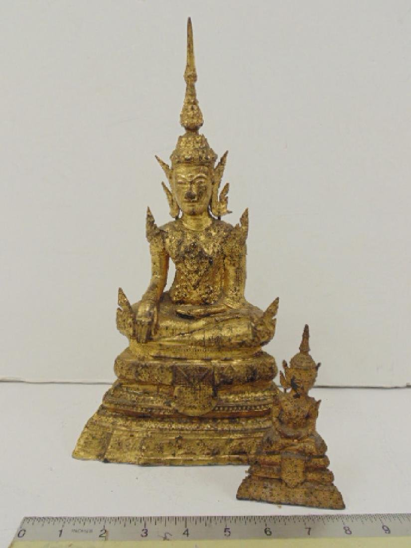 2 Thai bronze Buddha's, gilt finish