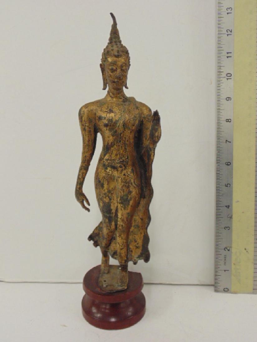 Gilt bronze Asian, Thai standing Buddha