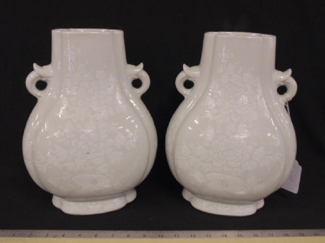 Pair Chinese Asian vases, Caledon type
