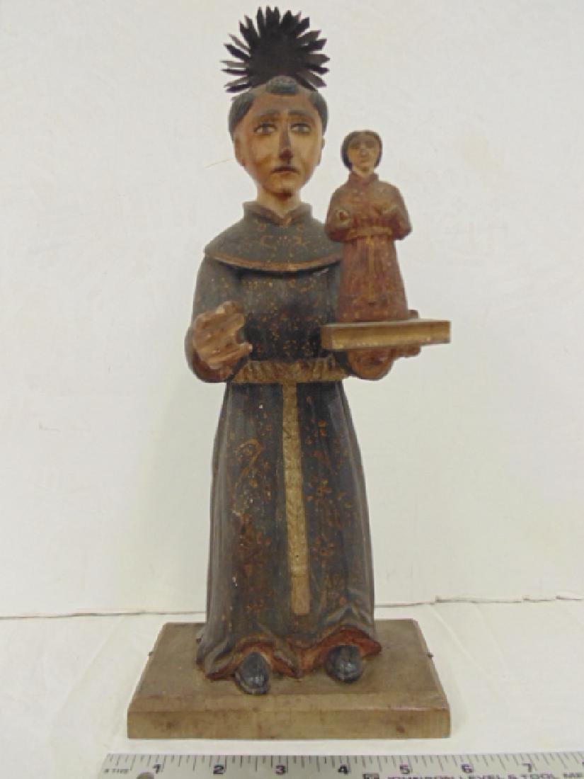 "Latin American Santos figure of ""San Antonio de Padua"","