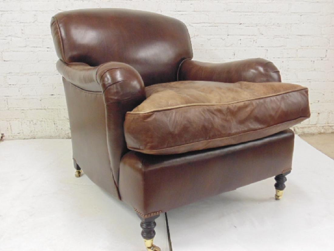 George Smith leather lounge/club chair