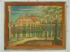 "Painting, ""Slave Market, New Orleans"", Larry Edwardson"