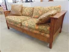 contemporary Stickley mission oak , arts & crafts sofa