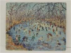 Painting skaters Prospect Park  Samuel Rothbort