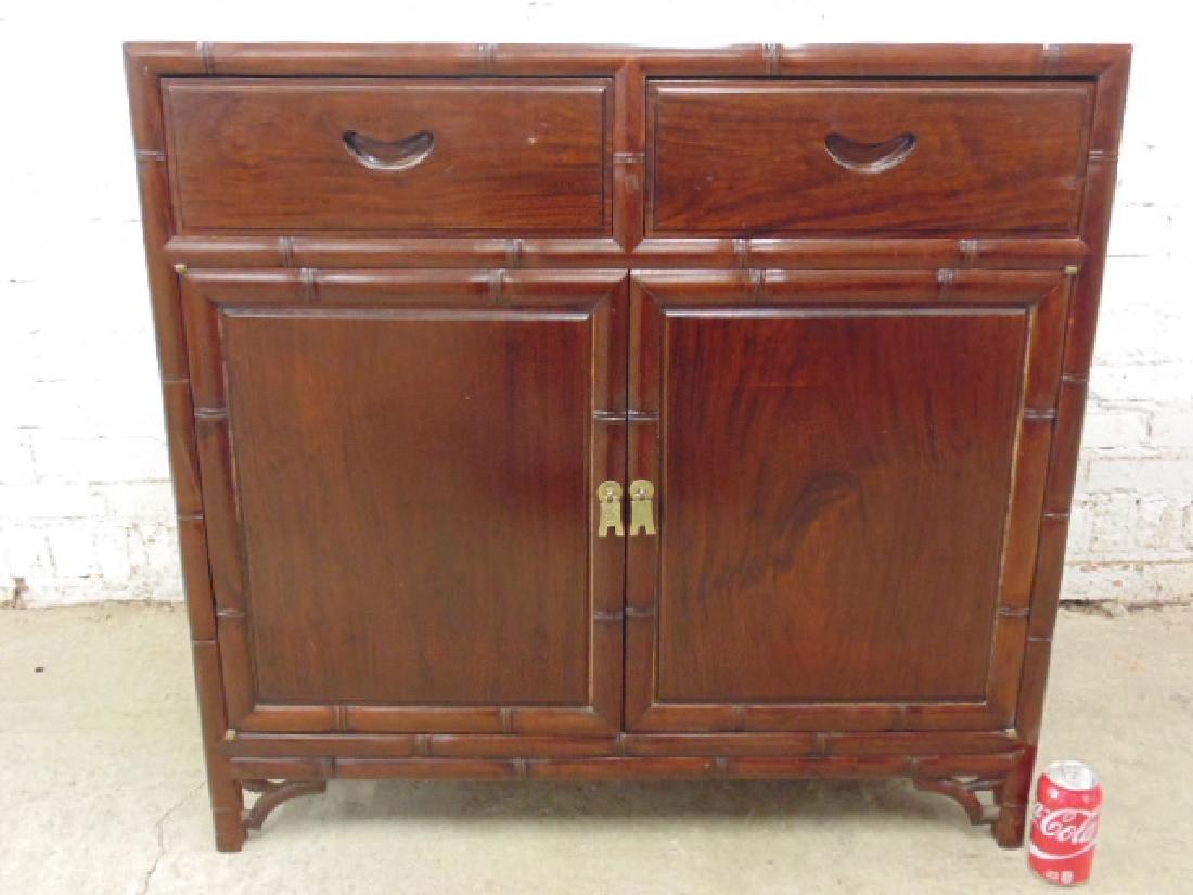 Chinese rosewood 2 door cabinet