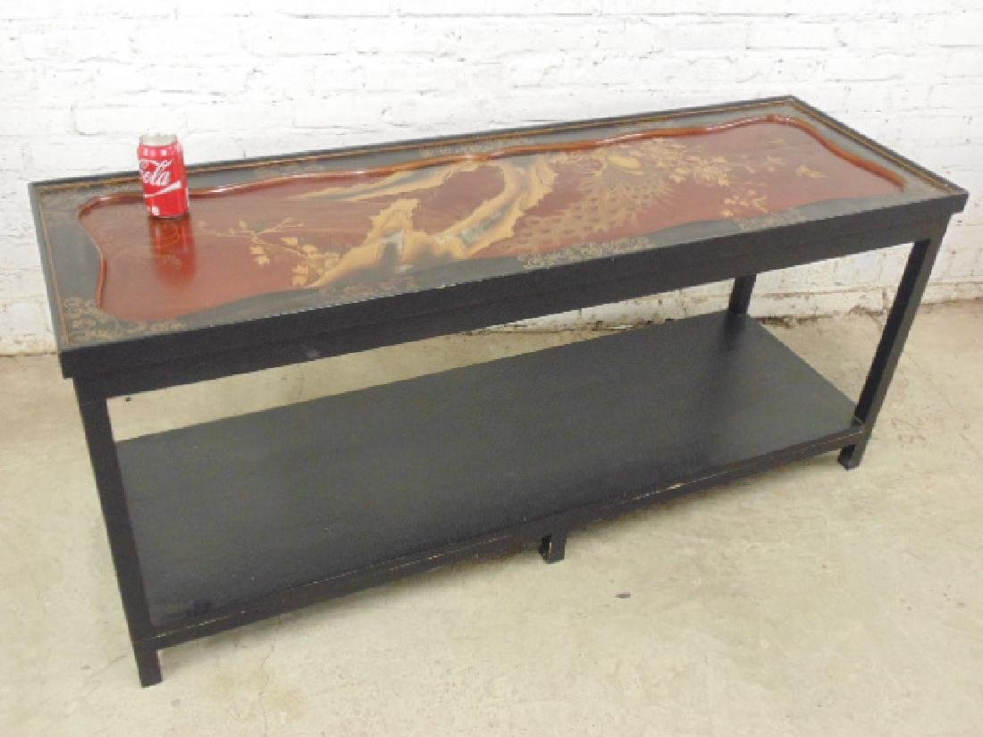 Asian sofa table, lacquered and painted