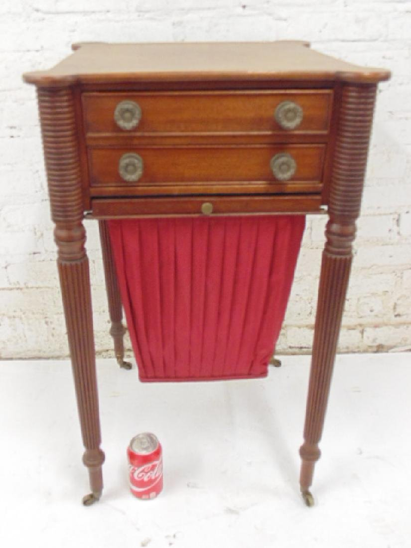 Empire sewing stand with basket