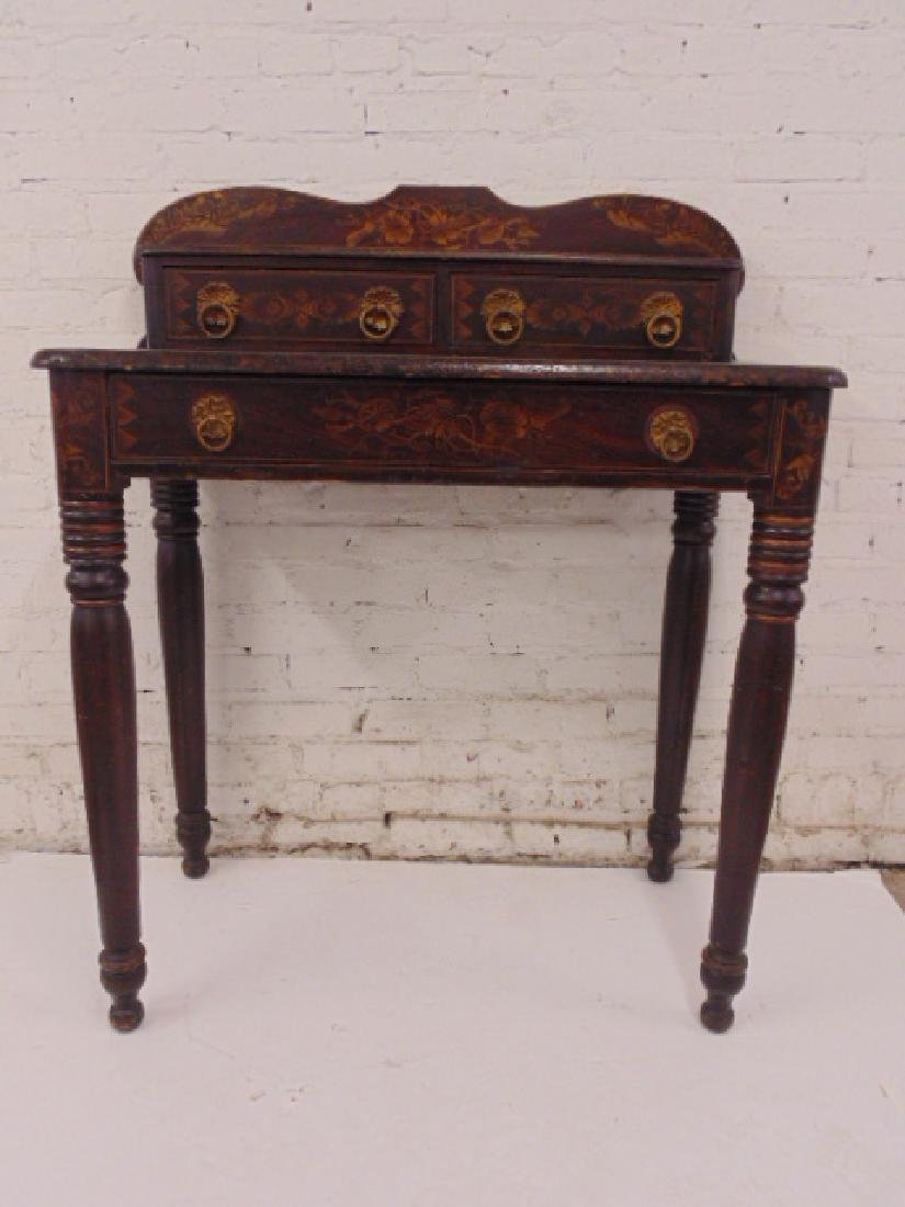 Stenciled dressing table, faux painted