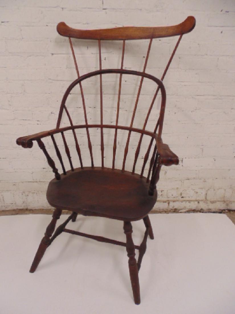 Antique comb Windsor arm chair, rare
