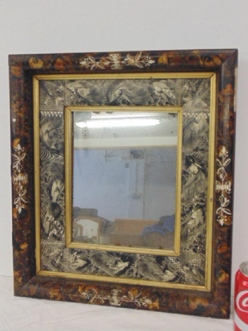 Fancy decorative frame, feather painted