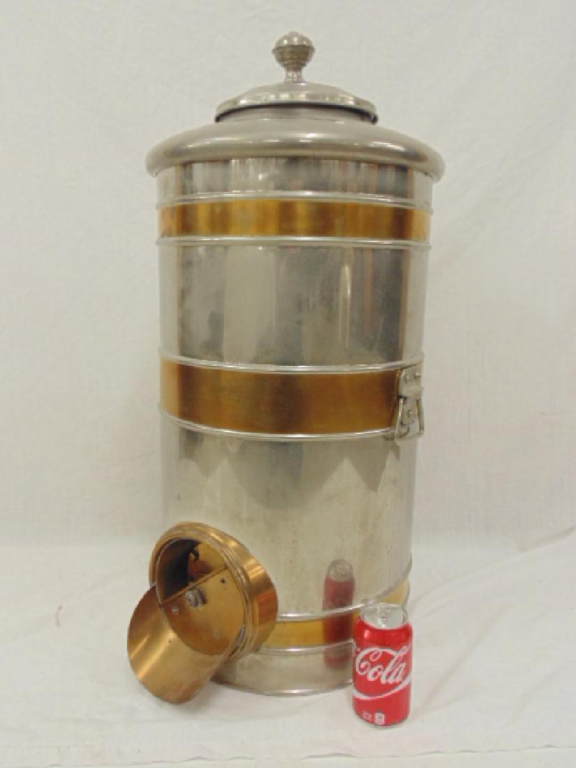 Large nickel plated coffee bean dispenser